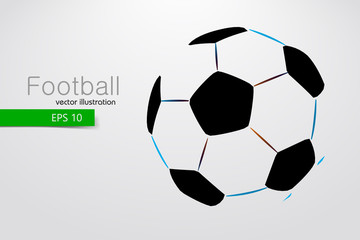silhouette of a soccer ball.