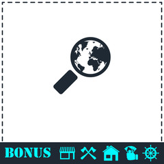 Global search icon flat