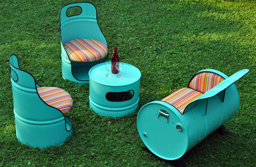 Oil drums furniture