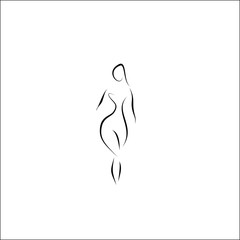 woman silhouette vector lines