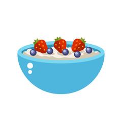 Semolina porridge vector illustration.