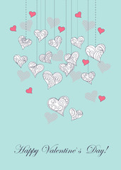 Valentine ornamental hearts