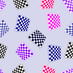 Seamless background with chess boards