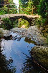 old stone arch bridge at the Cinque Terre, Italy