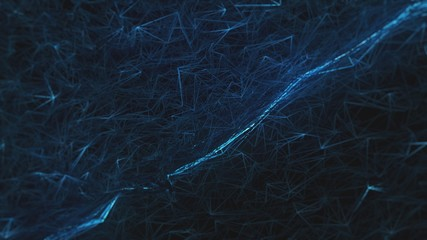 blue abstraction on a black background