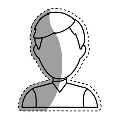Young Man profile icon vector illustration graphic