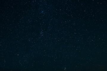 Dark night sky with constellations