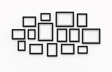 many blank black frames