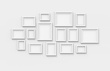many blank frames
