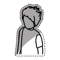 Young Man body complete icon vector illustration graphic design