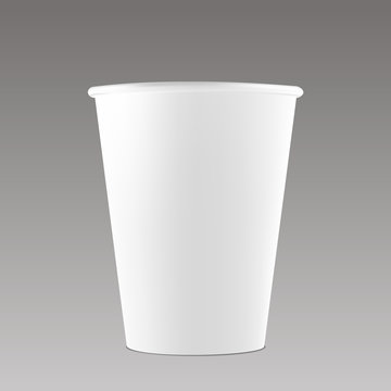 White coffee cup vector mockup