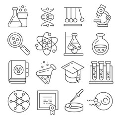 Vector icons lines set collection