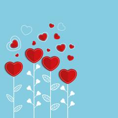 Paper Hearts for Valentine's Day celebration.