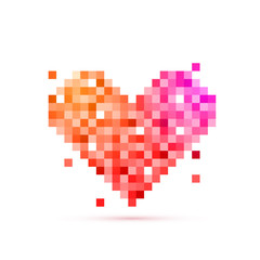 Pixel Heart for Valentine's Day celebration.