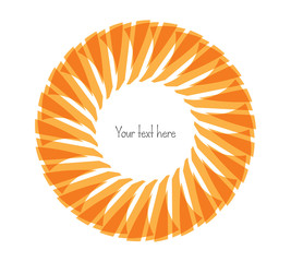Decorative, unusual, round frame with empty place for your text. Vector illustration for your design.