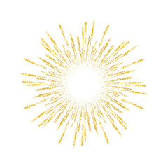 Vector firework element on a white background with stars.