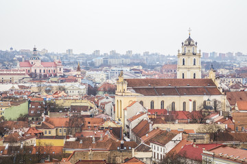 Wall Mural - View of the city from Tower of Gediminas