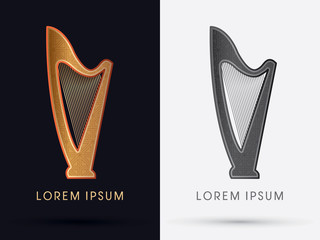 Luxury harp graphic vector