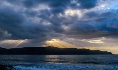 Cloudy sunrise at Ocean Beach