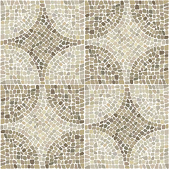 Seamless texture with stones place in curcular pattern. Vector illustration.