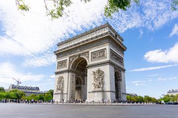 PARIS, FRANCE - August 28, 2016 : Arc de triomphe in Paris, one