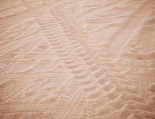 wheel track on sand
