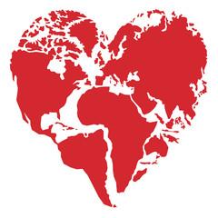 Cœur - planète - terre - environnement