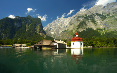 View of st Bartholoma church, Berchtesgaden National Park, Germany