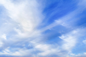 beautiful clouscape with cirrus clouds and blue sky