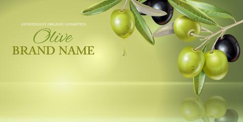 Olive vertical banner
