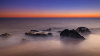 Rocky seascape long exposure
