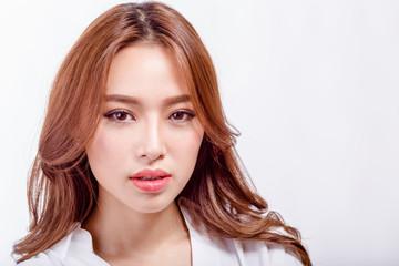 Beauty shot of Asian American woman