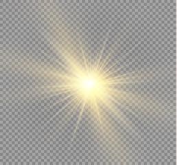 Glow light effect. Star burst with sparkles.