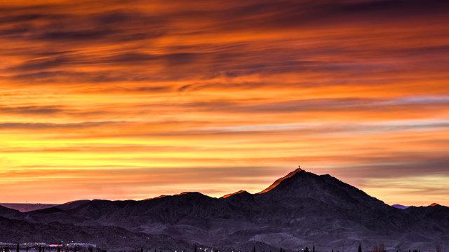 Mt. Christo Rey Sunset:  Sunland Park, New Mexico