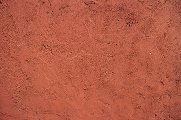 Cement Wall Background Red Color