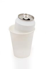 soda on the white background