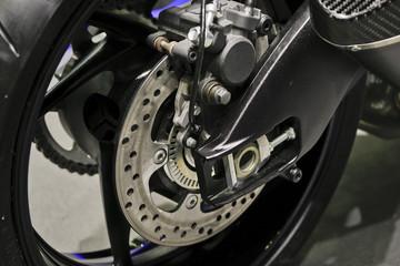 Detail Motorcycle disk brake.