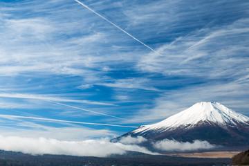 Staande foto Oost Europa The Mt.Fuji.The shooting location is Lake Yamanakako, Yamanashi prefecture Japan.