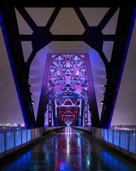 Big Four Bridge at night in Louisville, Kentucky