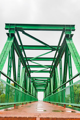 pedestrian iron bridge