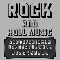 Script Font Typeface Rock and Roll Music vintage script font Vector typeface for labels and any type designs