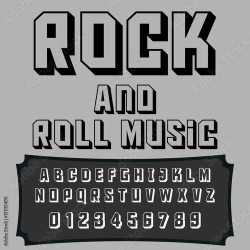 Quot script font typeface rock and roll music vintage