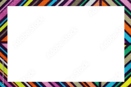 Color Oblique Lines Frame With Space To Write Your Text Stock Photo