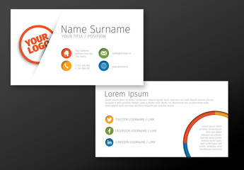 Peeking Logo Business Card Layout