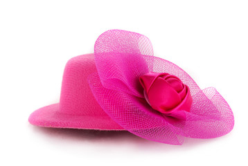 Stylish pink hat
