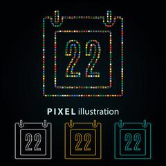 Calendar - pixel illustration.