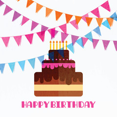 366127 Happy birthday greeting card