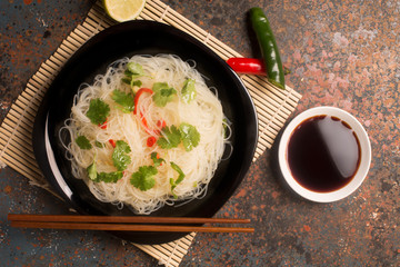 Photo: Chinese noodle with chili pepper