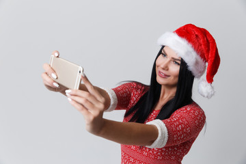 Girl photographed herselves in Christmas