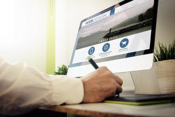 web developer designing a website